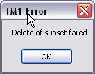 Delete Subset failed popup